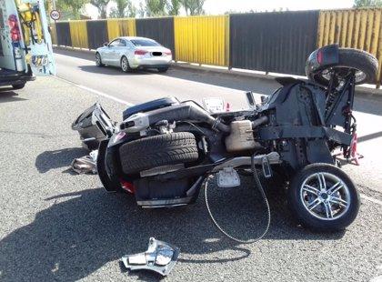 Herido tras volcar con un 'trike' en Valladolid