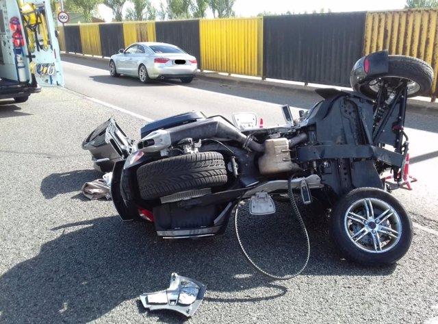 Sucesos.- Herido tras volcar con un 'trike' en Valladolid