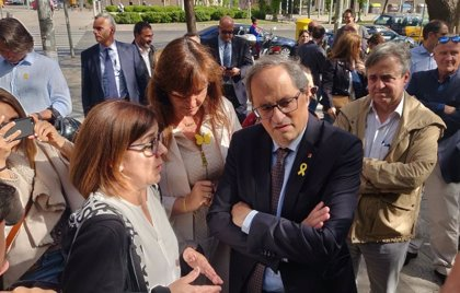 "Torra apoya a 15 citados por la jueza del 1-O de Barcelona: ""Hoy son ellos, mañana seré yo"""