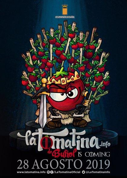 """'Juego de Tronos' protagoniza la 74 edición de la Tomatina de Buñol """"con tomates más certeros que el fuego valyrio"""""""