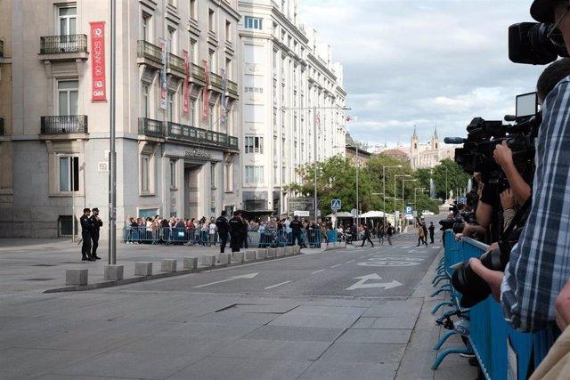 Capilla ardiente de Alfredo Rubalcaba en el Congreso de los Diputados en Madrid