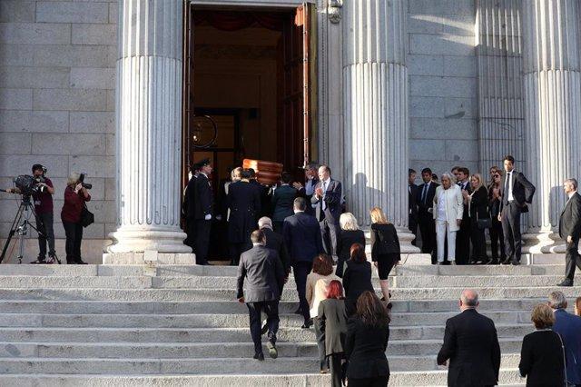 Capilla ardiente de Alfredo Pérez Rubalcaba en el Congreso de los Diputados en Madrid