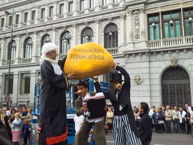 Manifestación De Los Afectados De Fórum Y Afinsa