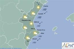 Las temperaturas descienden este sábado en la Comunitat, de forma notable en el litoral de Valencia