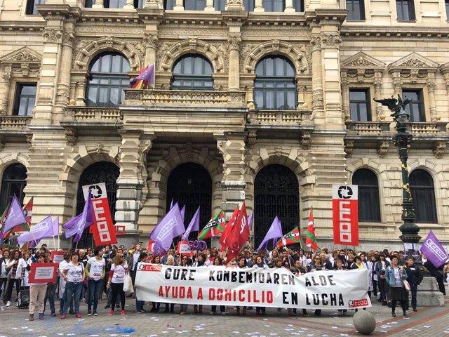 """CCOO de Euskadi pide una mejora y actualización"""" de las condiciones laborales de las trabajadoras de Ayuda a Domicilio"""