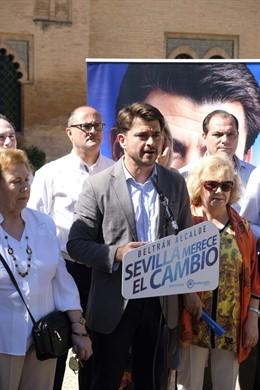 """Sevilla.-26M.- El PP promete una """"revolución"""" en la gestión de los distritos frente al """"abandono de los últimos años"""""""