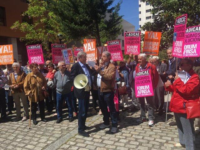 Decenas de afectados por el caso Fórum-Afinsa reclaman en Valladolid una solución a los fraudes