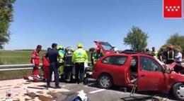 Trasladada grave al hospital en helicóptero una joven de 20 años tras sufrir un accidente de tráfico en Pozuelo del Rey
