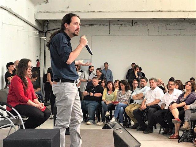 """Iglesias advierte a Sánchez: """"Vinimos a mancharnos las manos y a cambiar las cosas desde dentro"""""""