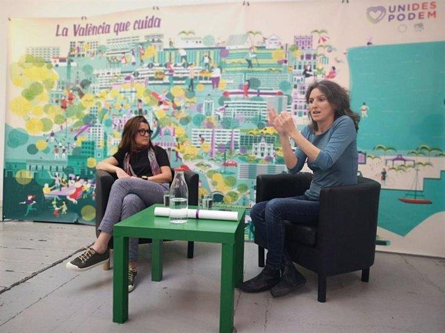 """26M.-Oliver (Unides Podem) defiende un """"municipalismo centrado en las personas"""" bajo el lema 'La València que cuida'"""