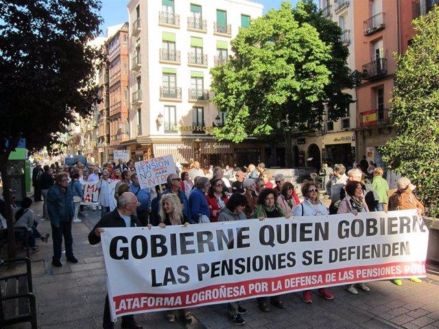 """Riojanos salen a la calle por """"unas pensiones dignas y de calidad"""" ante """"el momento decisivo en el que nos encontramos"""""""