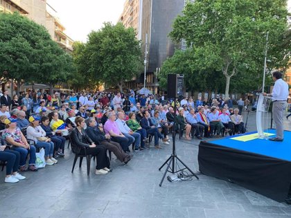 """Company pide en Palma el voto al PP en un acto de campaña por la """"libertad de Venezuela"""" junto a Leopoldo López"""
