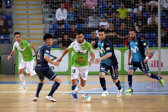 Taffy Nogueira, durante un partido con el Palma Futsal.