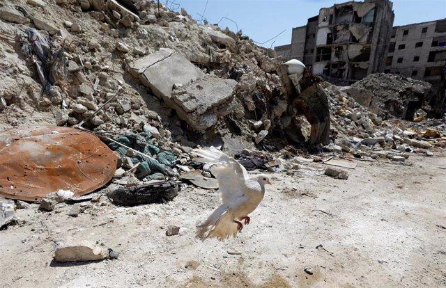 Siria.- La vida entre los escombros del frente de Alepo: tres años esperando una reconstrucción imposible