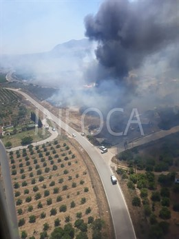 Almería.- Sucesos.- Declarado un incendio forestal en Tahal