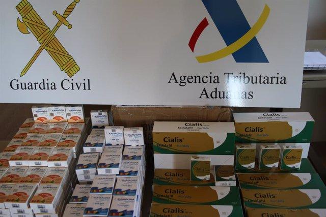 Successos.- Detenen en Palma a un home que tenia més de 4.500 pastilles per la viagra