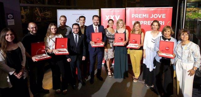 Ganadores del Premio Joven Empresario 2017