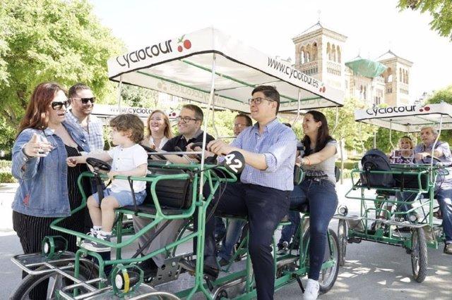 Sevilla.-26M.-Pimentel (Cs) promete ventajas fiscales y bonificaciones de tasas para familias numerosas y monoparentales