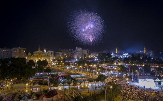 FUEGOS ARTIFICIALES FIN DE LA FERIA DE ABRIL 2019