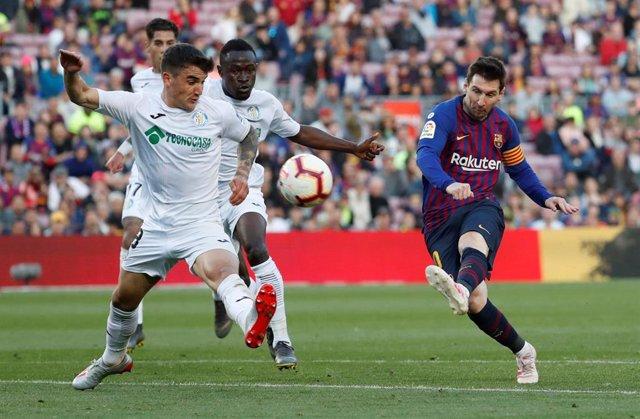 Fútbol/Liga Santander.- Crónica del FC Barcelona-Getafe: 2-0.