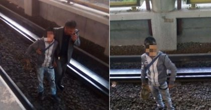 Un mexicano intenta robar un móvil a otro hombre y cae a las vías del metro