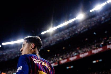Coutinho, 10 días de baja por una elongación en el bíceps del muslo izquierdo, podrá jugar la final de Copa