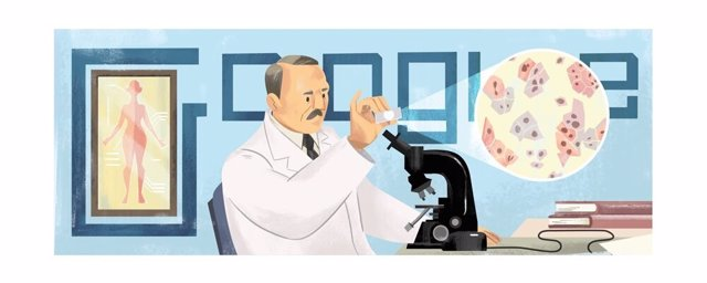 Google homenaje en su 'doodle' a Georgios Papanikolaou, médico pionero en la detección del cáncer de útero