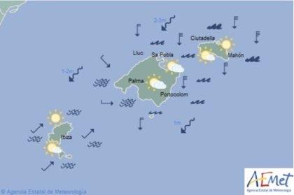 El tiempo, hoy lunes 13 de mayo de 2019, en Baleares