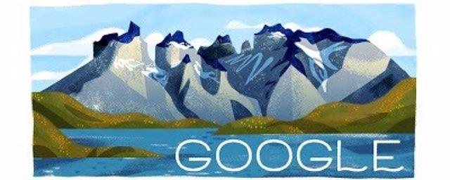 Google celebra el 60 aniversario del Parque Nacional Torres del Paine (Chile) con un bonito 'doodle'
