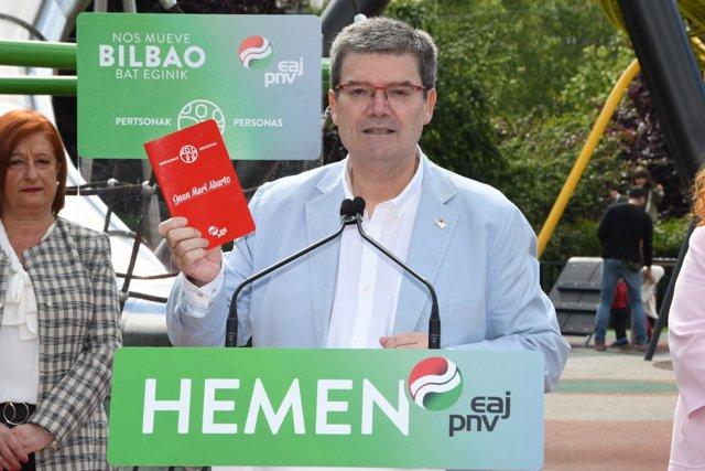 """26M.- Aburto dice que su proyecto """"más ambicioso"""" para Bilbao son sus personas y no """"dejar a nadie detrás""""."""