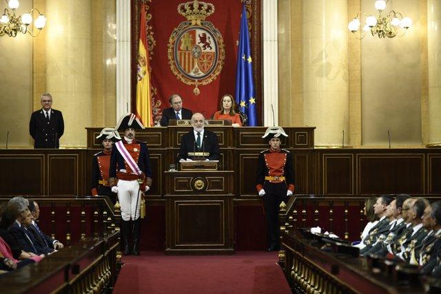 Acto de reconocimiento de las Cortes Generales a la Guardia Civil por el 175 aniversario de la fundación de la Guardia Civil