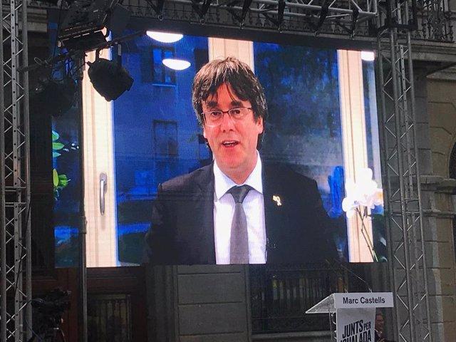 """26M.- Puigdemont pide tener """"voz y voto"""" en la UE para forzar al Estado a dialogar"""
