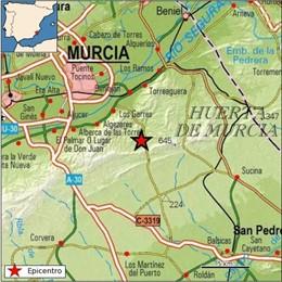 Murcia registra un terremoto de magnitud 2,6 sin daños