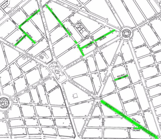 Cort comienza las obras de mejora de asfaltado en ocho calles de Pere Garau