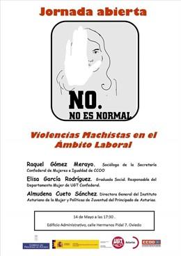 Oviedo acoge este martes una jornada abierta sobre 'Violencias machistas en el ámbito laboral'