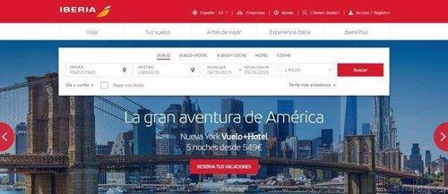 Iberia ofrece vuelos a Estados Unidos desde 549 euros con cinco noches de hotel