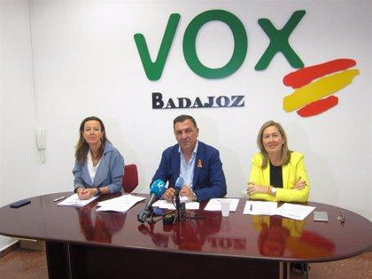"""Morales destaca una """"agresiva"""" rebaja fiscal como la medida estrella del programa de VOX en Extremadura para el 26-M"""