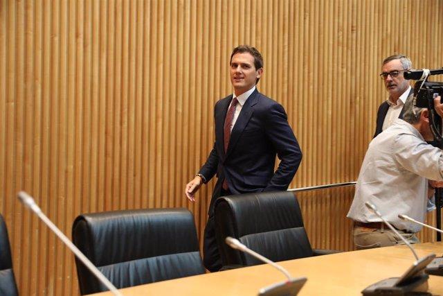 Primera reunión en el Congreso de los diputados electos de Ciudadanos