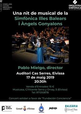 La Sinfónica interpretará 'Una nit de musical' con la actriz y cantante Àngels Gonyalons y el director Pablo Mielgo