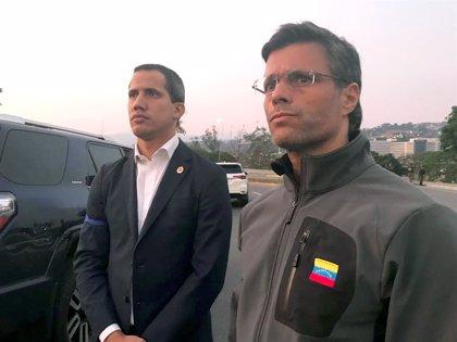 Guaidó y Leopoldo López se reúnen en la Embajada de España en Venezuela