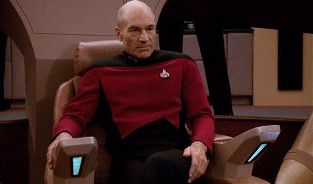 Patrick Stewart en Star Trek. La próxima generación