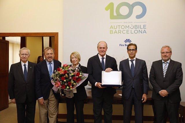 Fira.- Automobile Barcelona homenajea al presidente de honor del RACC, Sebastià Salvadó