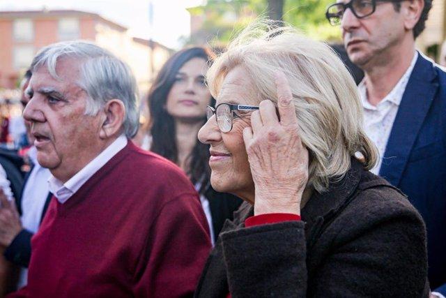 Apertura de campaña de Más Madrid en la Plaza de la Asociación de Orcasitas en Madrid