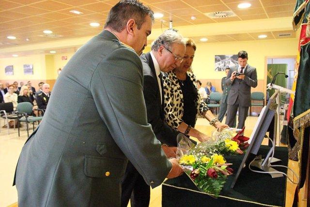 La Guardia Civil rinde homenaje en Intxaurrondo a la novia de un agente, asesinada por ETA hace 40 años en Beasain
