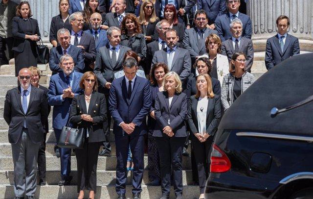 Capilla ardiente durante el sábado 11 de mayo para despedir a Alfredo Pérez Rubalcaba en el Congreso de los Diputados