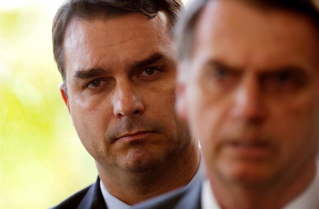 FILE PHOTO: Flavio Bolsonaro, son of Brazil's President Jair Bolsonaro is seen b