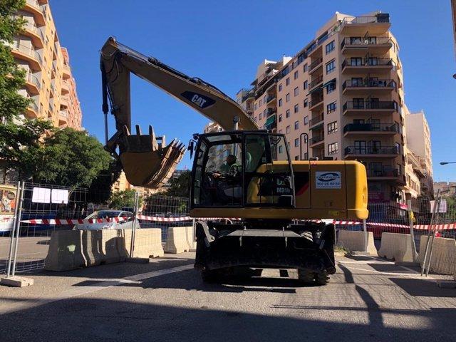 Empiezan las primeras actuaciones para construir el colector de la depuradora de Palma