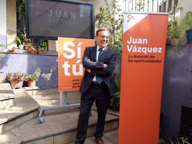 26M.- Juan Vázquez (Cs) propone un plan de modernización turística autonómico en el Principado