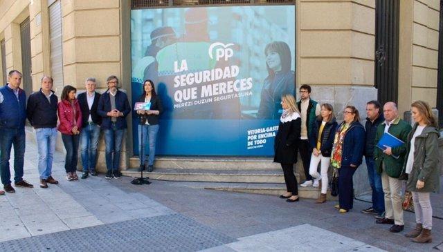 26M.-Comerón (PP) Propone Abrir Una Nueva Comisaría De Policía Local En La Calle Olaguíbel De Vitoria