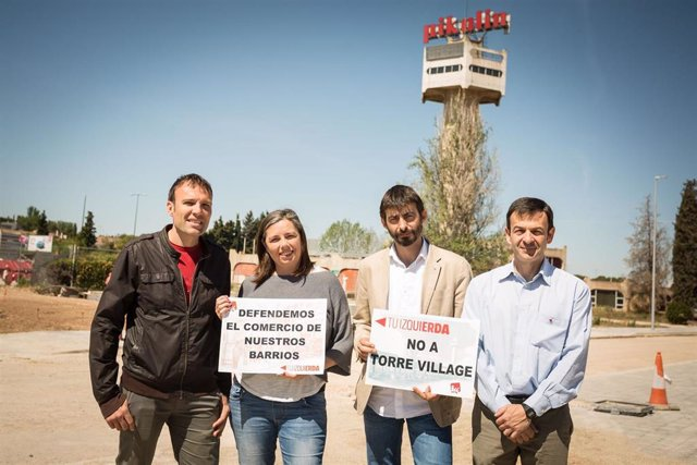 """26M.- Zaragoza.- IU Tilda De """"Barricidio"""" El Modelo Comercial De Torre Village Que Defienden PP, PSOE Y Cs"""